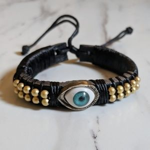 Jewelry - •Evil Eye• Leather and Cord Bracelet